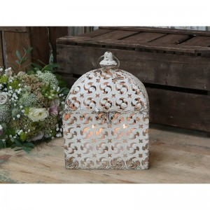 AŻUROWY LAMPION / LATARNIA VINTAGE CHIC ANTIQUE 30 CM