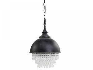 LAMPA FACTORY CHIC ANTIQUE 31,5 CM - CZARNA