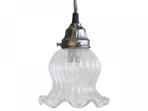 SZKLANA LAMPA CHIC ANTIQUE  20 CM