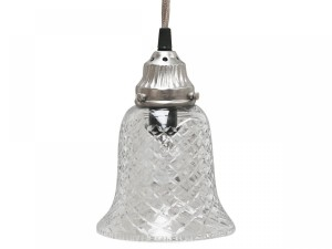 SZKLANA LAMPA CHIC ANTIQUE  19 CM