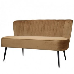 SOFA CHIC ANTIQUE WELUROWA CARAMEL