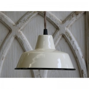 EMALIOWANA LAMPA SCANDI CHIC ANTIQUE - KREMOWA