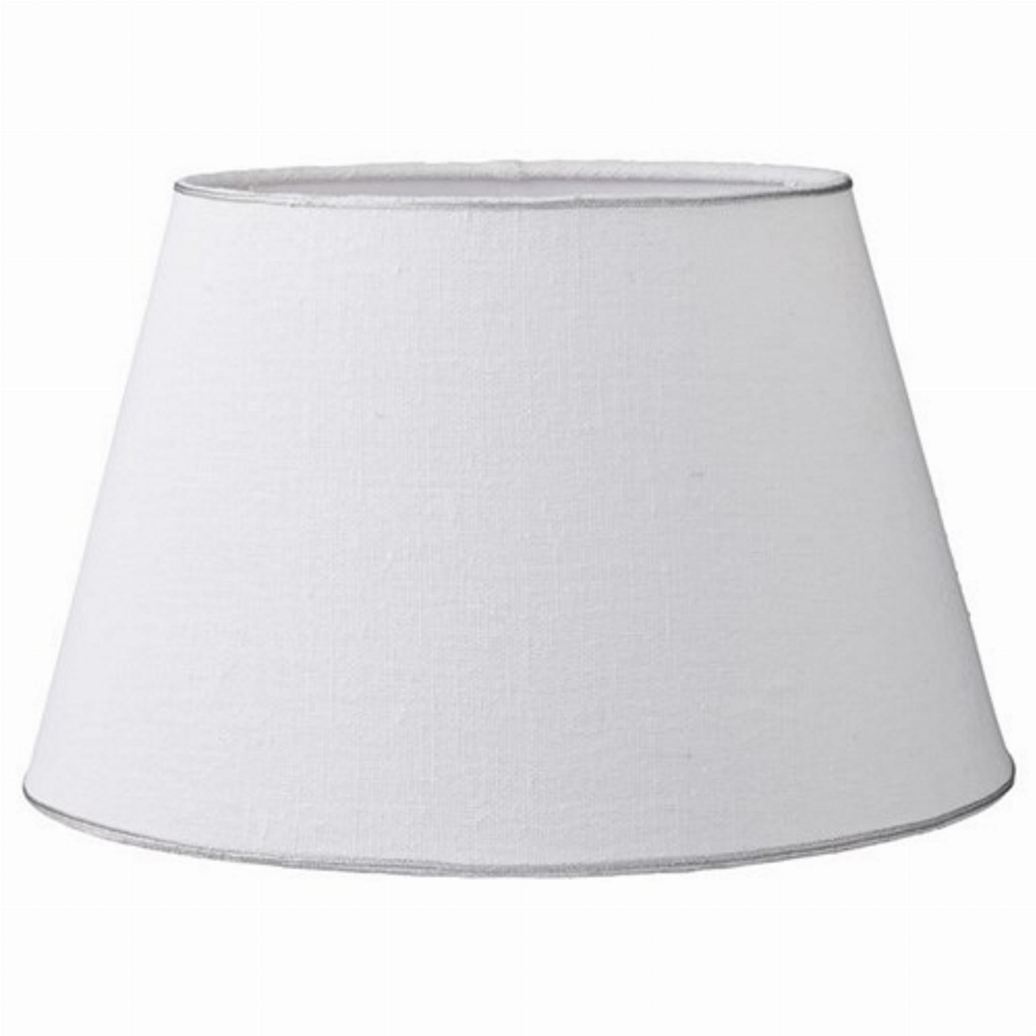 Klosz Abażur Do Lampy Rustic Linen ø25 Cm Lene Bjerre Lniany Biały